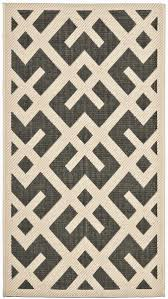 Ikea Outdoor Rugs by Black U0026 Beige Modern Indoor Outdoor Carpet Safavieh Com