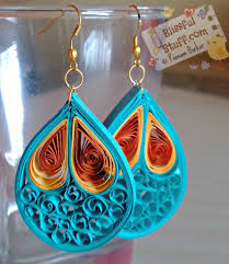earrings paper papercraft diy how to make quilled paper necklace and earrings