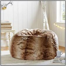 white faux fur bean bag chair chairs home decorating ideas hash