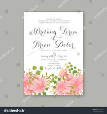 Nice Wedding Invitation Cards Beautiful Wedding Floral Vector Invitation Sample Stock Vector