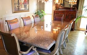 Labrador Antique Granite Dining Table Ogee Edge Parquet Floor - Granite dining room tables and chairs