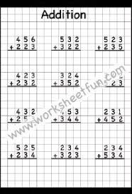 3 digit addition u2013 no regrouping u2013 2 worksheets addition