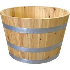 real wood real wood products wine half solid wood barrel planter reviews