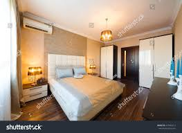 beautiful interior apartment bedroom classic style stock photo