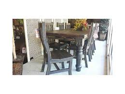 dark wood dining room tables rustic dark wood dining room table w chairs custom furniture and