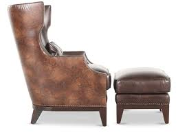 simon paisley accent chair with ottoman mathis brothers furniture