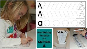 prewriting practice with the letter a where imagination grows