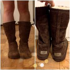 75 ugg boots ugg side zip boots in chocolate brown from