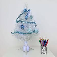 60cm frozen white fibre optic tree