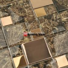 Stone Mosaic Tile Kitchen Backsplash by Glass Tile Backsplash Sample Blue Recycle Glass Mosaic Tile