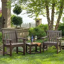 Patio Furniture Made From Recycled Plastic Milk Jugs Polywood Vineyard Recycled Plastic Garden Bench Hayneedle
