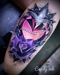diamond tattoo neo traditional dimonds tattoo neo traditional dark girly tattoo crystal diamond
