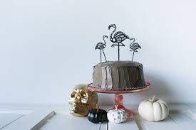 Halloween Cake Topper by Diy Skeleton Flamingo Cake Toppers Salty Canary