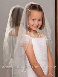 1st communion veils illusions bridal flower girl and communion veils m 251 p