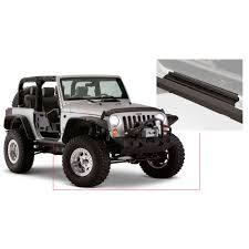 wrangler jeep 2 door bushwacker 14011 wrangler jk rocker panel door sill plate guard