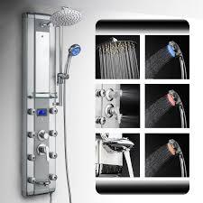 az 5333dk09 akdy aluminum rainfall massage bath shower panel akdy 51