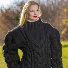 knitted sweater sweaters knitted chunky sweater in black