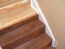 Laminate Floor To Tile Transition How To Installing Laminate Flooring Stairs