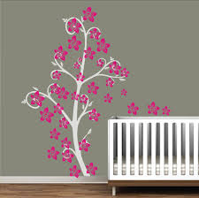 Flower Wall Decals For Nursery by Vinyl Wall Decal Romantic Simple Curly Charm Flower Tree Floral