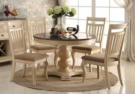 classic round dining room tables with antique cream cherry