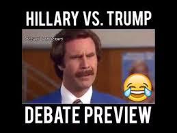 Anchorman Meme - hillary vs trump debate 3 preview anchorman youtube