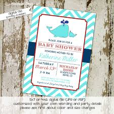 whale baby shower invitation baby boy gender reveal gender neutral