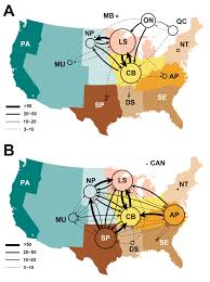 Appalachian Mountains Canada Map by Characterize To Control Analyzing The Spread Of Pig Disease To