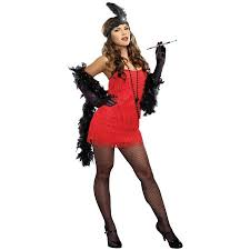 20s red flapper dress women u0027s halloween costume walmart com