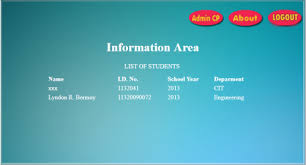 informational website templates student information system in php free website templates and web