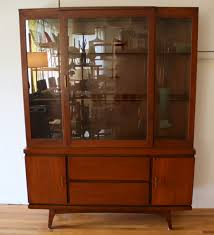 Heywood Wakefield China Cabinet Mid Century Modern China Cabinet Hutch Picked Vintage