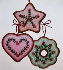 embroidered felt ornaments rainforest islands ferry