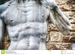 Michelangelo David Statue Close Up Of Michelangelo U0027s David Statue Chest In Piazza Della Si