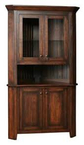 corner kitchen hutch furniture amish frontier shaker corner kitchen hutch rooms