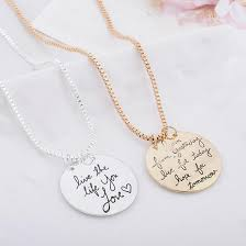 photo engraved necklace ela live the you charm necklace engraved gifts quan