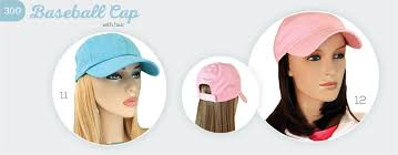 chemo hats with hair attached baseball cap with hair hairpiece wig alternative headwear hats