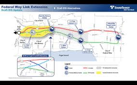 Seattle Link Rail Map Debate Over The Future Kent Des Moines Station Site