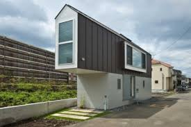 living slim narrow house design in japan mothernature