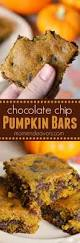 thanksgiving chocolates pumpkin chocolate chip bars a chewy delicious fall dessert