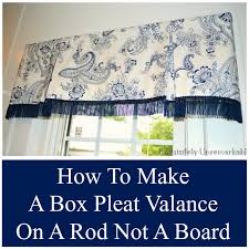 Drapery Patterns Professional How To Make A Box Pleat Valance Exquisitely Unremarkable