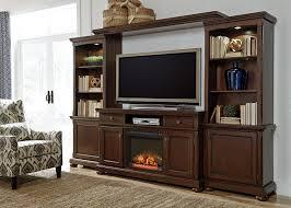 millennium porter entertainment wall unit w tv stand bridge and