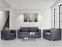 fauteuil canapé ensemble canape et fauteuil khells en cuir veritable enscuir khel