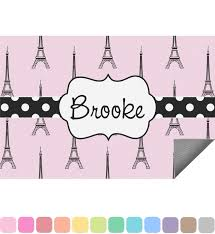 Pink Outdoor Rug Eiffel Tower Indoor Outdoor Rug Personalized Baby N Toddler