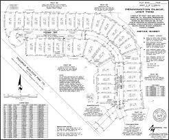 subdivision plat map