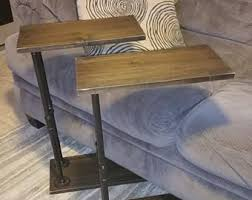 couch arm table etsy