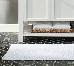 Cotton Bathroom Rugs Textured Organic Bath Rug Wide Pottery Barn