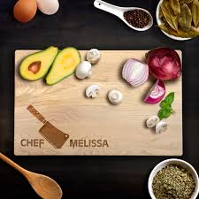 personalized cutting board wedding personalized cutting board wedding gift chefs knife chef name