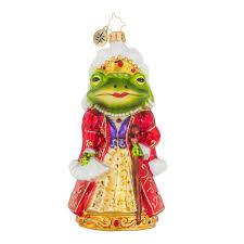 christopher radko ornaments frog princess animal ornament 1019094