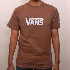 light brown t shirt vans classic skate t shirt brown light blue skate t shirts from