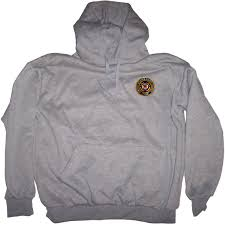 coast guard military logo pullover sweatshirt with hood insignia