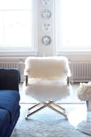 Cheap Director Chairs For Sale Tamra Sanford U0027s Soho Loft Home Tour Fluffy White And Gold Chair